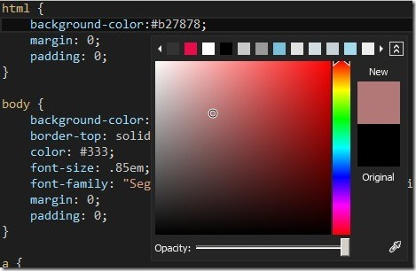 Visual Studio 2012-CSS Editor-Color Picker