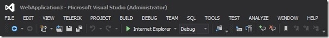 Visual Studio 2012-Single Toolbar